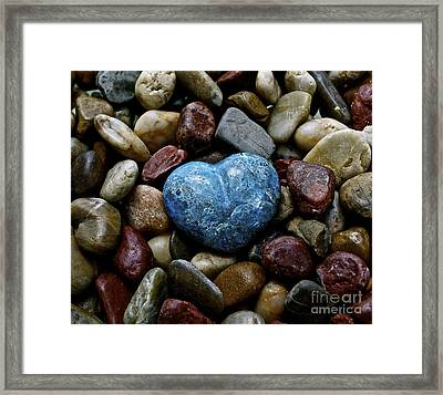 Heart Of Stone Framed Print by Lisa  Telquist