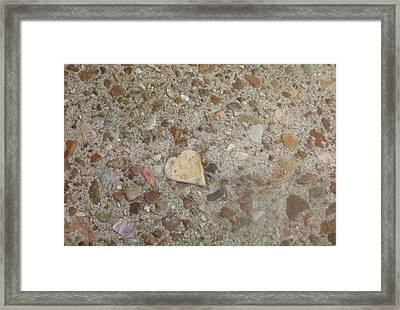 Framed Print featuring the photograph Heart Of Stone by Fortunate Findings Shirley Dickerson