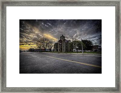 Heart Of Texas Framed Print