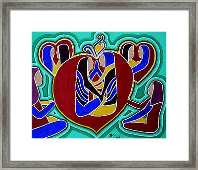 Heart Of The Ages Framed Print
