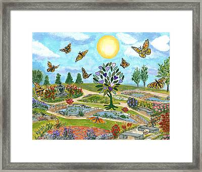 Heart Of The Butterfly Framed Print