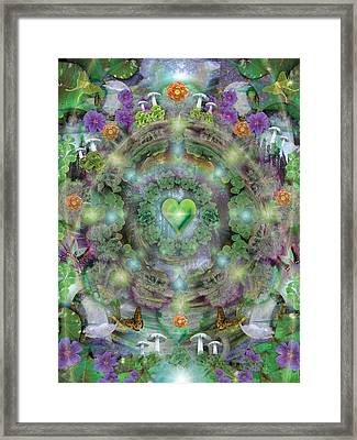 Heart Of The Forest Framed Print by Alixandra Mullins
