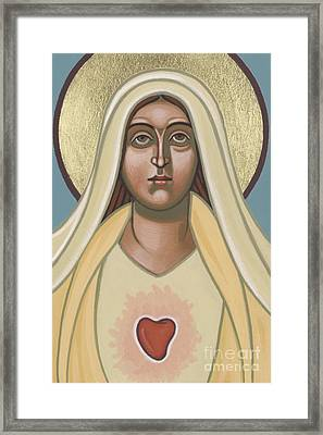 Framed Print featuring the painting Heart Of The Mother 252 by William Hart McNichols