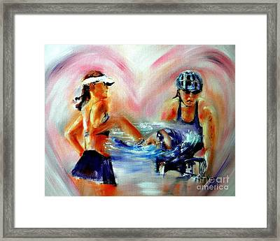 Heart Of The Triathlete Framed Print by Sandy Ryan