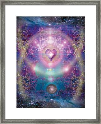 Heart Of The Universe Framed Print by Alixandra Mullins