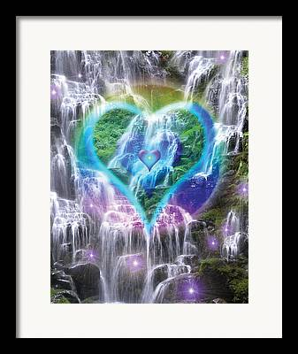 Heart Of Waterfalls Framed Prints