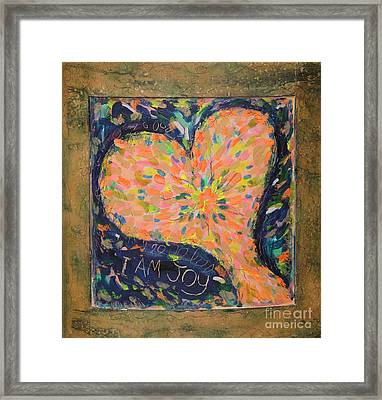 Heart On Curved Wood Framed Print by Kelly Athena