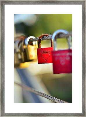 Heart On The Padlock Framed Print by Gynt
