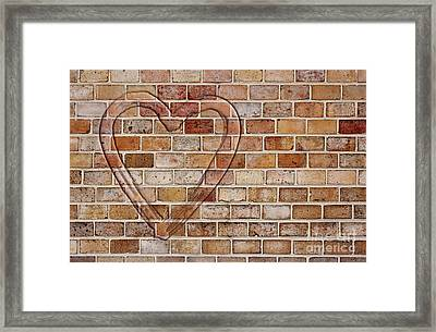 Heart On The Wall Framed Print