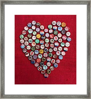 Heart Pop Framed Print