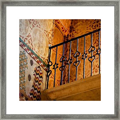 Heart Railing Framed Print by Art Block Collections
