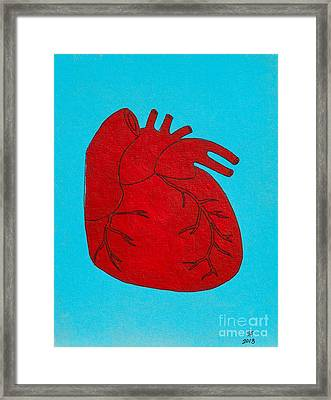 Heart Red Framed Print