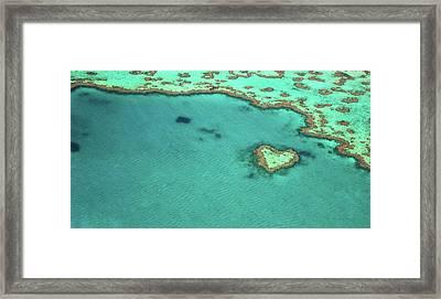 Heart Reef Framed Print by Kokkai Ng