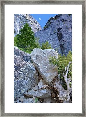 Heart Rock In Yosemite Framed Print by Debra Thompson