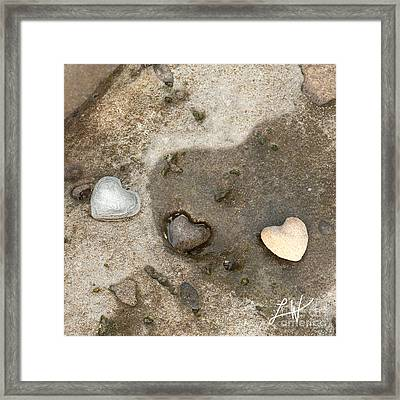 Heart Rock Love Framed Print by Artist and Photographer Laura Wrede