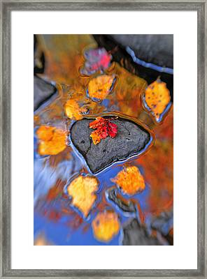Heart Rock Reflections Framed Print