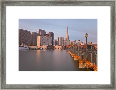 Framed Print featuring the photograph Heart San Francisco by Jonathan Nguyen
