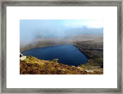 Heart Shape Lake Lough Ouler Wicklow In Ireland Framed Print
