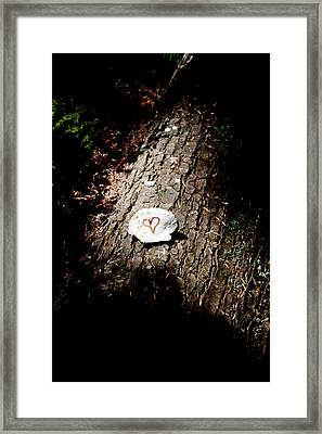 Heart Shape Stop Framed Print