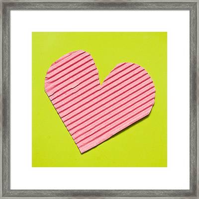 Heart Shape Framed Print