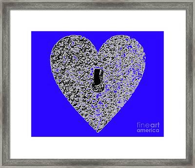 Heart Shaped Lock - Blue Framed Print by Al Powell Photography USA