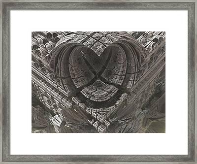 Heart-shaped Mandelbox Framed Print