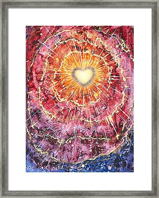 Heart Source Framed Print
