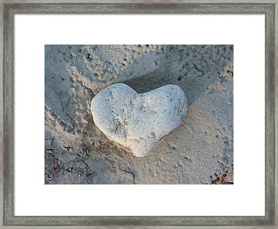Heart Stone Photography Framed Print