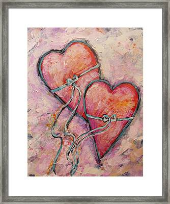 Heart Strings Framed Print by Carol Suzanne Niebuhr