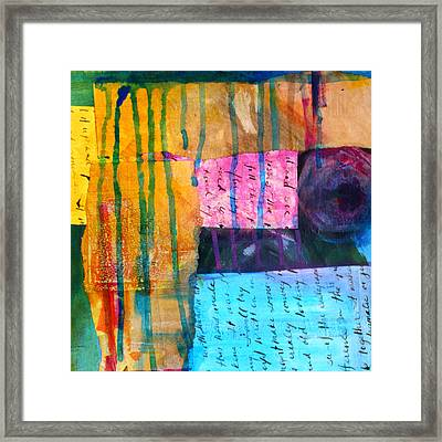 Heart Tear Framed Print by Nancy Merkle