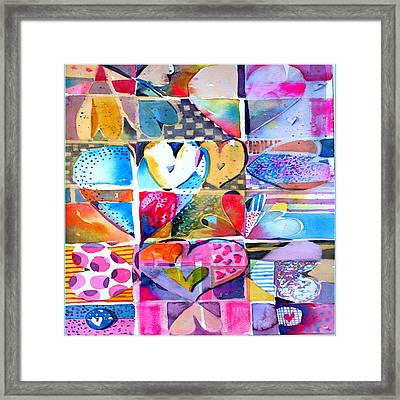 Heart Throbs Framed Print by Mindy Newman