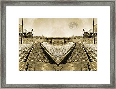 Heart Tracks Framed Print by Betsy Knapp