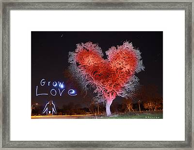 Grow Love Framed Print