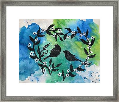 Heart Tree Framed Print by Cathy Jacobs