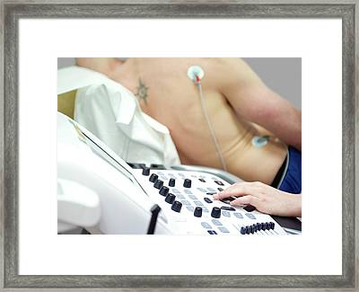Heart Ultrasound Framed Print