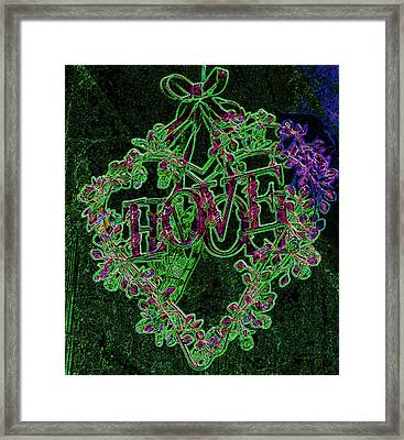 Heart With Love 1 Framed Print by Jenny Rainbow