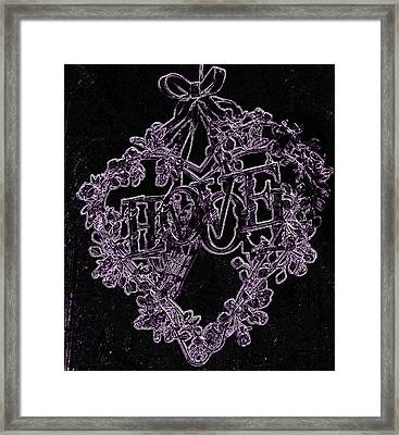 Heart With Love 5 Framed Print by Jenny Rainbow
