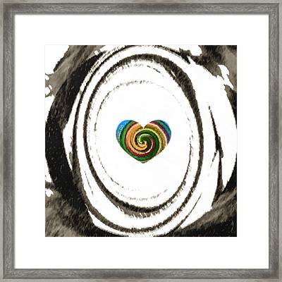 Framed Print featuring the digital art Heart Within by Catherine Lott