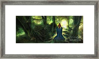 Heart Wood Framed Print by Aimee Stewart