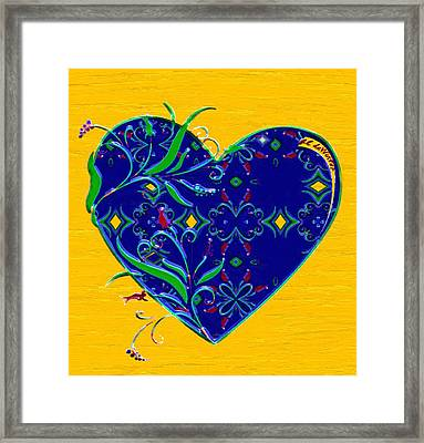 Heartbloom Framed Print by RC deWinter