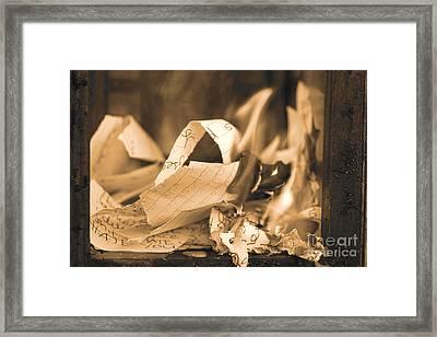 Heartbreak And Smoke Xv Framed Print by Cassandra Buckley