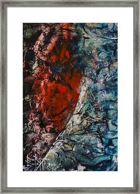 Framed Print featuring the painting Heartfelt by Ron Richard Baviello