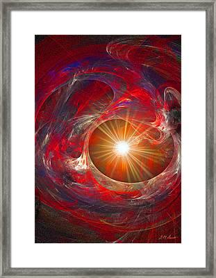 Heartful Meditation Framed Print