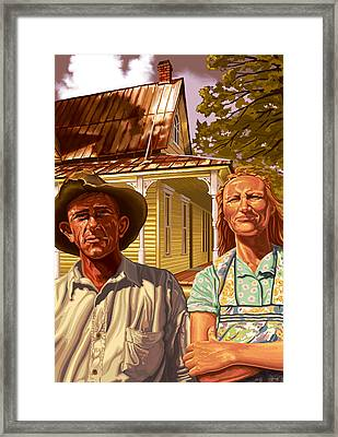 Heartland Mettle Framed Print by Hans Neuhart
