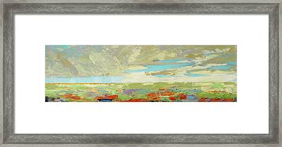 Heartland Series/ Big Sky Framed Print by Marilyn Hurst