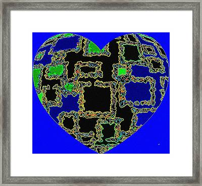 Heartline 11 Framed Print
