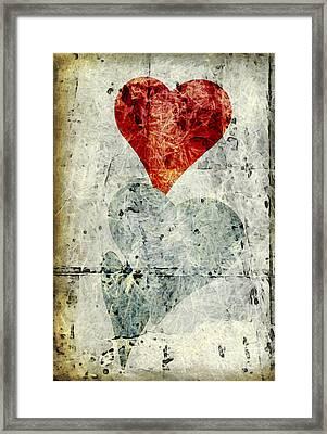 Hearts 1 Framed Print by Edward Fielding