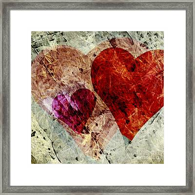 Hearts 10 Square Framed Print by Edward Fielding