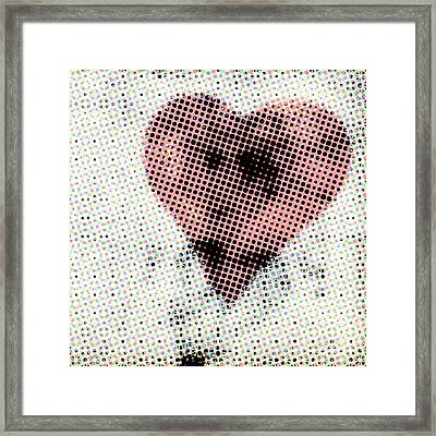 Hearts 21 Square Framed Print by Edward Fielding