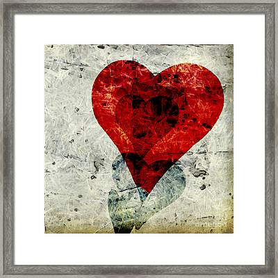 Hearts 3 Square Framed Print by Edward Fielding